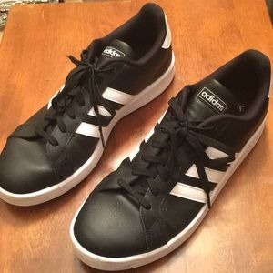 Adidas Grand Court Black and White Size 12